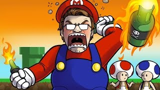 WORLD'S QUIETEST DRUNK RAGE GAMEPLAY CHALLENGE - THE FINALE (Unfair Mario)