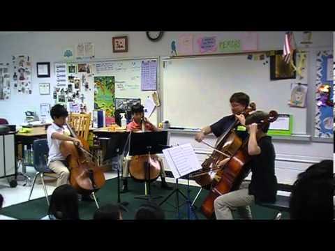 2013 Kaboff Cello School, Fairhill Elementary School,  Allegro Moderato, J. S. Bach