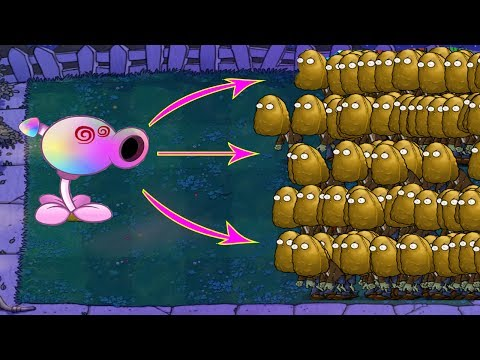 799 Tall-nut Zombie vs Hypno-shroom Epic Plants vs Zombies Hack 100%