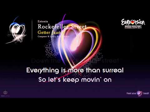 "Getter Jaani - ""Rockefeller Street"" (Estonia) - [Karaoke version]"
