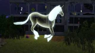 The Sims 3 Pets Gameplay - Moonstone the Ghost Unicorn