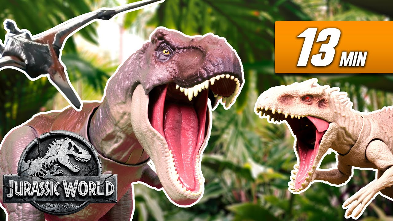 Every Dino Battle EVER Compilation! | Jurassic World | Mattel Action!