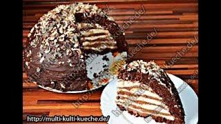 Schokoladentorte | Triple Chocolate Mousse Cake | Doppelte Schoko Mousse Torte | Kuppeltorte