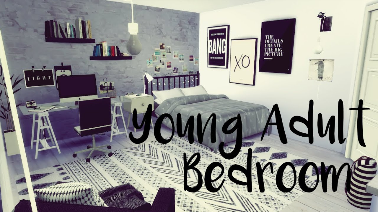 How To Create a Room: Young Adult Bedroom - The Sims 4 - YouTube