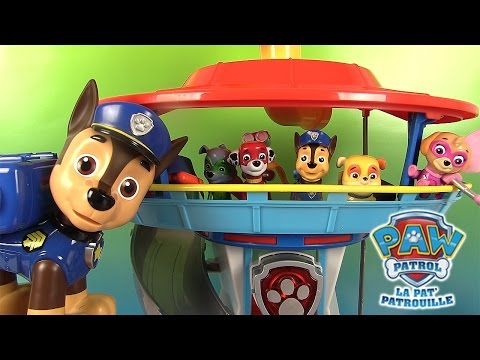 pat patrouille quartier g n ral paw patrol lookout playset p te modeler en fran ais clip60. Black Bedroom Furniture Sets. Home Design Ideas