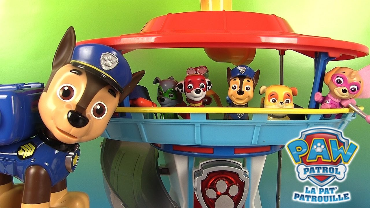 pat patrouille quartier g n ral paw patrol lookout playset youtube. Black Bedroom Furniture Sets. Home Design Ideas