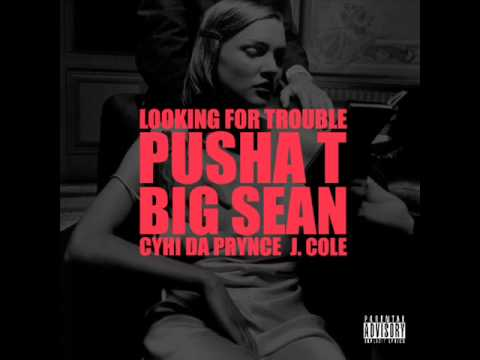 Kanye West ft Pusha T, Big Sean, Cyhi Da Prince, and J.Cole- Looking For Trouble