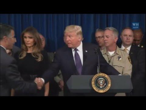 Donald Trump se marcha de Las Vegas sin hablar sobre el control de armas