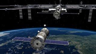 Стыковка ТГК Прогресс МС-01 с МКС (Прямая трансляция)