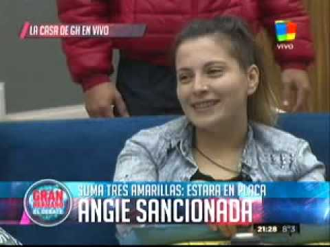 """""""Gran Hermano 2015"""": Angie, sancionadísima por el """"Big"""""""