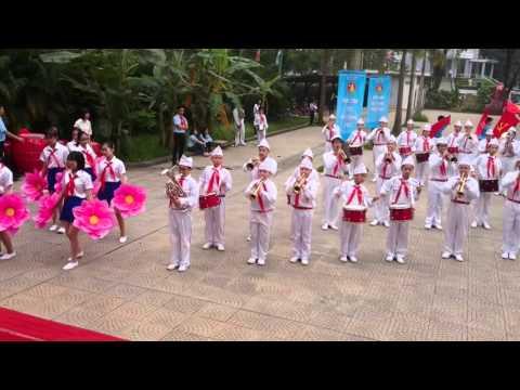 Phần thi nghi lễ trống kèn của đội nghi lễ Quận Ba Đình - 19/4/2016