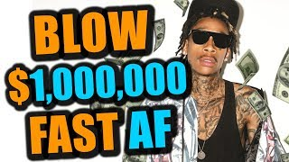 How FAST do Rappers Spend $1,000,000?
