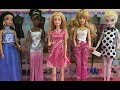 Dress Up Makeover Challenge! Barbie Dresses All The Disney Princesses! Fashion Fun!