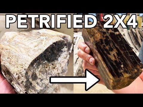 Making a Petrified 2x4  Waterjet Channel