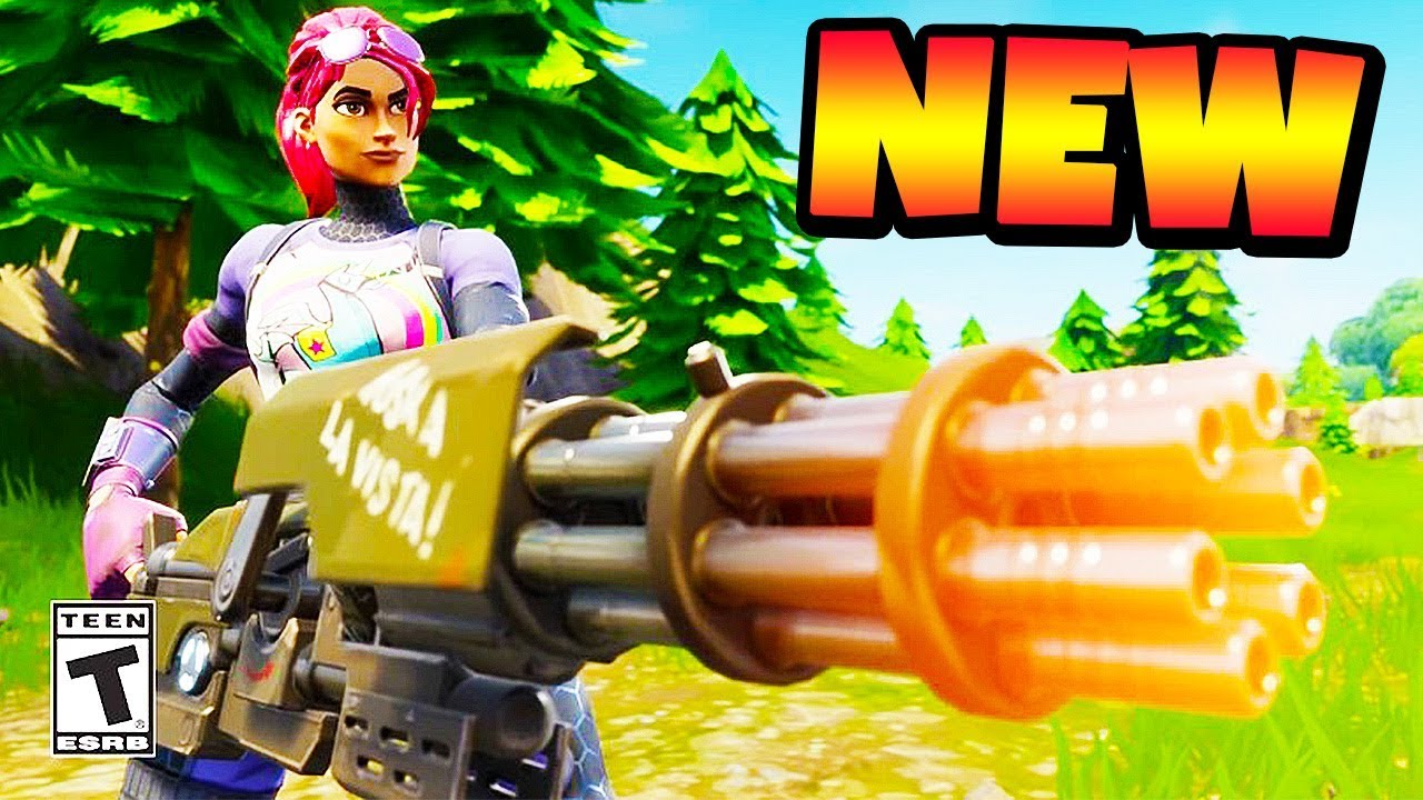 New LEGENDARY MINI GUN In FORTNITE OVERPOWERED Chaos YouTube
