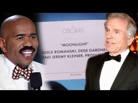 Thumbnail: Steve Harvey Reacts to Oscars Best Picture Flub: 'I Can Help Warren Beatty Through This'