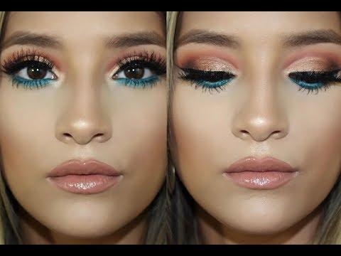 Pop Of Teal Makeup Tutorial L Bronze Makeup Look L Makeup Geek Autumn Glow