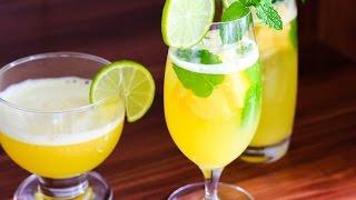 Cách làm Nước dứa chanh mát lạnh - Pineapple Lime Cooler