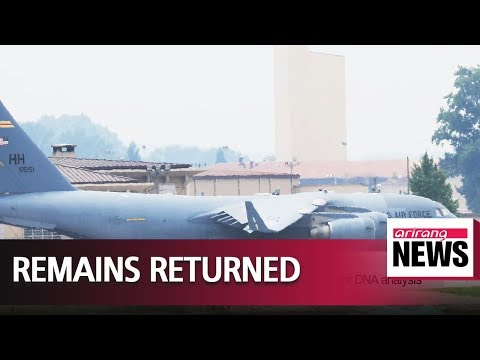55 remains of American servicemembers killed in North Korea returned