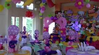 Groove Paint - Minnie Mouse & Friends Theme - Styro Backdrop & Balloon Decor