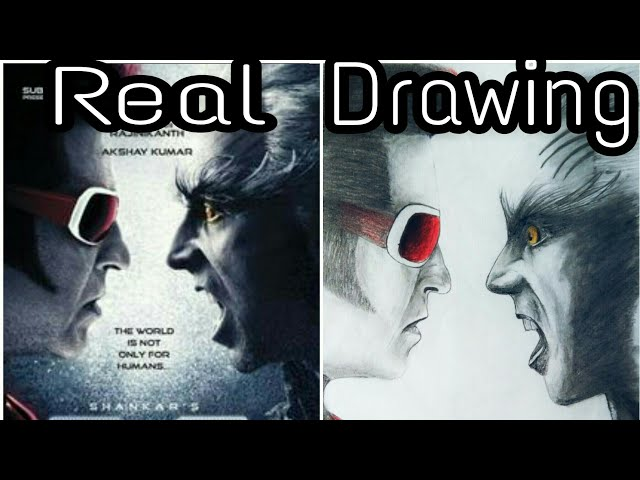 ROBOT 2.0. First look poster pencil drawing