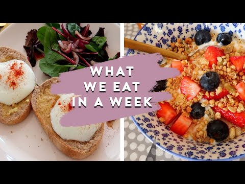 WHAT WE EAT IN A WEEK (FAMILY EVENING MEALS & LUNCHES) | FEBRUARY