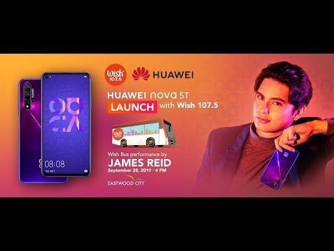 The Roadshow: Huawei Nova Star James Reid Live Webisode featuring the Huawei nova 5T