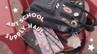 ART SCHOOL SUPPLY HAUL