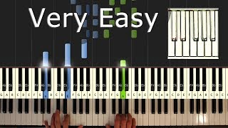 Jingle Bells - VERY EASY Piano Tutorial  - How To Play (Synthesia) Christmas
