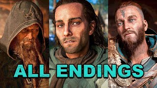 Assassin's Creed Valhalla - All Endings (Good, Bad, Epilogue, Asgard, Grand Maegester & Present Day)