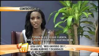 Leila Lopes responde a criticas de Osmel Sousa