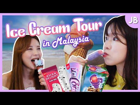 Korean Girls Tried Ice Creams In Malaysia Vol.2 🍍 Ice Cream Mukbang L Blimey In JB Ep.03