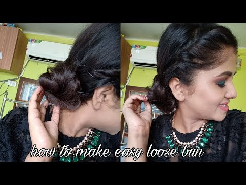 Easy Loose Bun # Classic Bun Hairstyle # Look Elegant