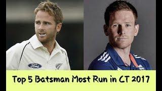Top 5 Batsman Most Run in Champion Trophy 2017