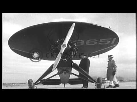 Circular-wing airplane, invented by Steven P. Nemeth, of Chicago, is demonstrated...HD Stock Footage
