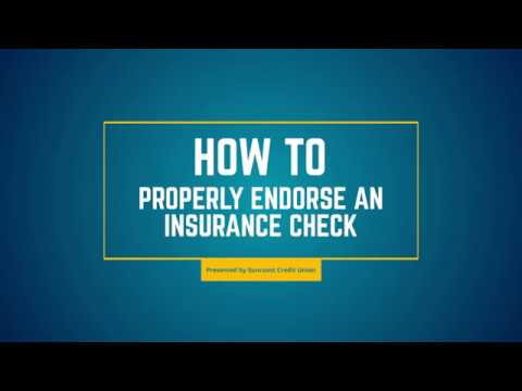 How To Properly Endorse An Insurance Check Youtube