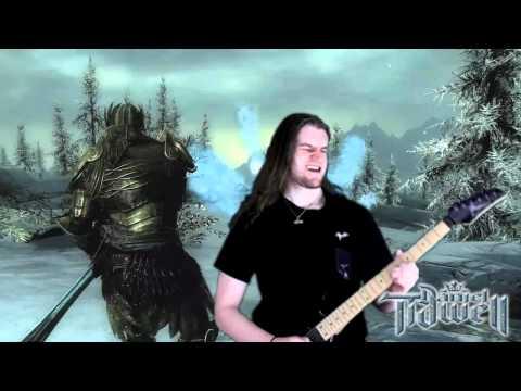 Sons of Skyrim Theme (Dovahkiin) Metal/Rock Guitar Cover Remix - The Elder Scrolls V Music