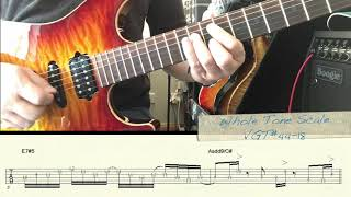 Whole Tone Scale Lick Example