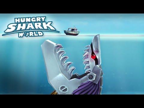 MAXED ROBOT SHARK!!! - Hungry Shark World   Ep 64 HD
