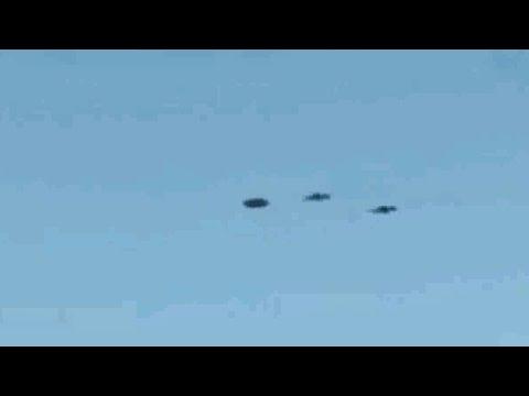 AVIONES MILITARES RUSOS ATACAN A OVNI!!