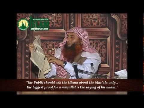 [English] Taqleed - Shaikh Zubair Ali Zai [part 1]