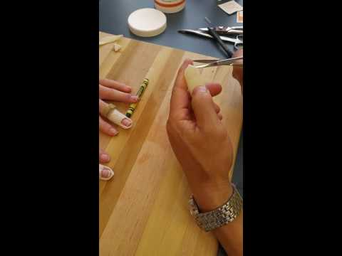how to make a mallet finger splint