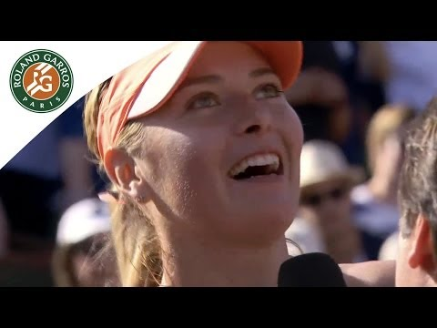 Maria Sharapova's First Reaction After Her 2014 French Open Victory - Roland-Garros