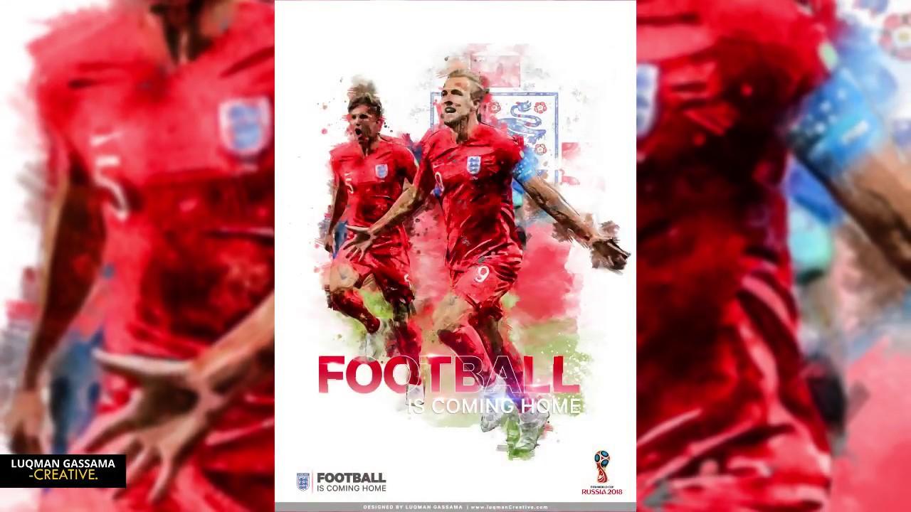 England Football World Cup 2018 Speed Art Poster Design
