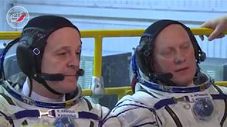 Экипажи МКС-55/56 провели «примерку» ТПК «Союз МС-08»
