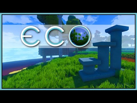 MAKING CONCRETE - Pillars & Slabs [Let's Play Eco Game / Eco Gameplay]