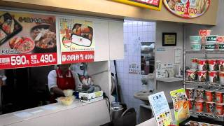 Fast food lunch box restaurant in Japan