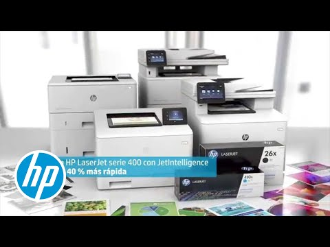 Presentamos las impresoras HP LaserJet serie 400 con JetIntelligence