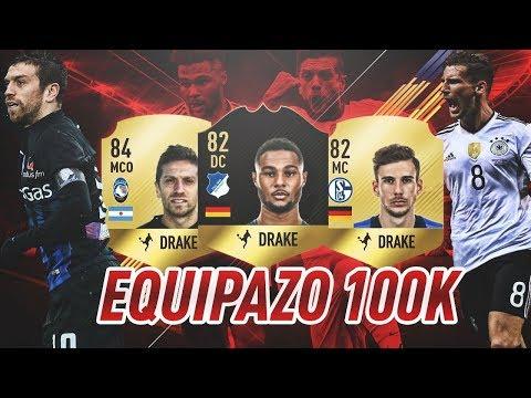 LA MEJOR PLANTILLA HÍBRIDA POR 100 K EN FIFA 18 !!