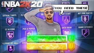 THE BEST BADGES FOR EVERY BUILD ON NBA 2K20! BREAKDOWN OF THE MOST OVERPOWERED BADGES ON NBA 2K20